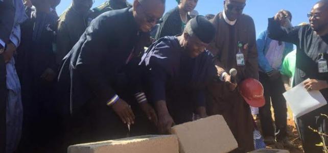 VP. Osinbajo Lays Foundation For 2000 Housing Units, Galaxy Mall In Kaduna State.